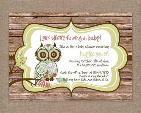 diy vintage baby shower invitations 46 best diy owl invitations images on barn