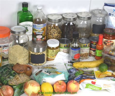 how to stock a healthy pantry cooking with a plate