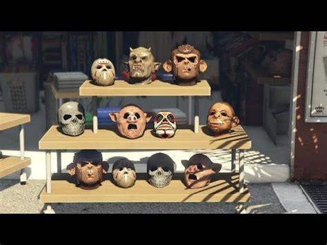 gta 5| mask showcase|all masks on gta 5 online| youtube