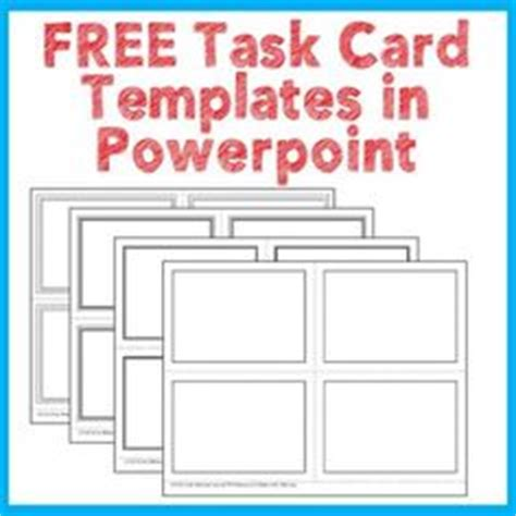 Free Task Cards Templates Classroom Ideas Pinterest Free Task Cards More More And Card Task Card Template