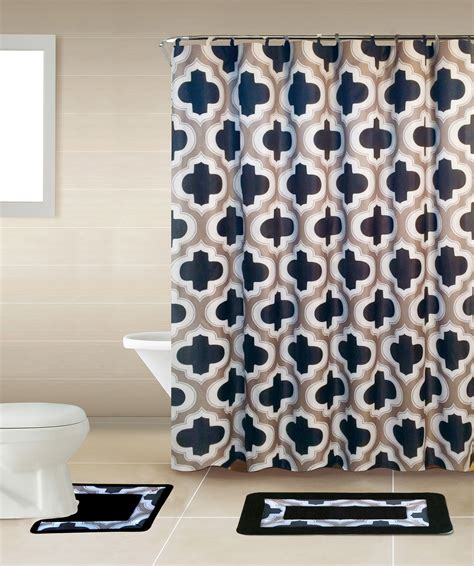 Curtain And Rug Sets by Geometic Helix Swirls Shower Curtain With Hooks Bathroom