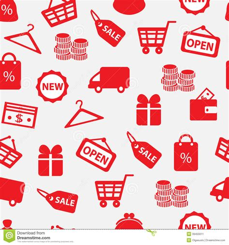 background wallpaper education icon seamless background with shopping icons stock vector