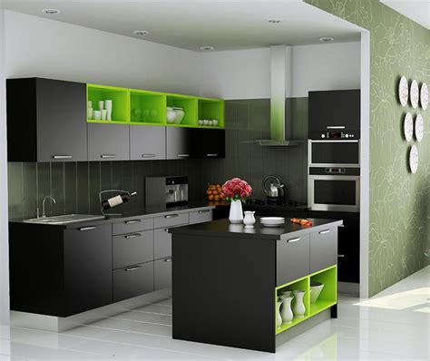Small Kitchen With Island Design by Johnson Kitchens Indian Kitchens Modular Kitchens