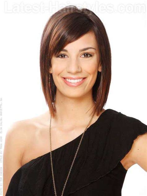 haircuts for thin straight hair oval face 15 medium layered bob with bangs bob hairstyles 2017