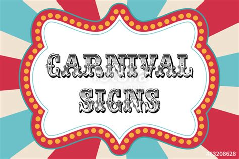 quot carnival sign template quot stock image and royalty free