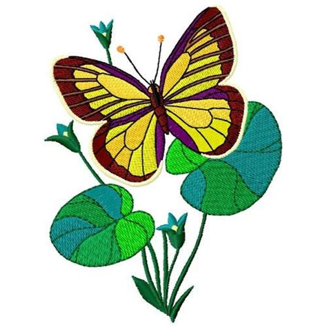 Bv4765ls Embroidery Flower And Butterfly butterfly and flowers embroidery designs machine