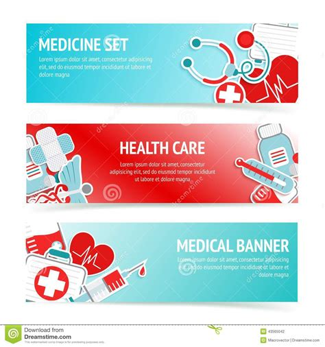 first light health care medical health care banners stock illustration image