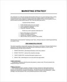 marketing strategy template sle marketing strategy template 7 free documents