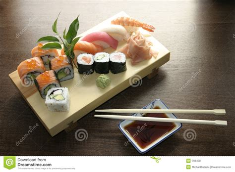 Japanese Kitchen Sushi Sushi Traditional Japanese Food Royalty Free Stock Photos