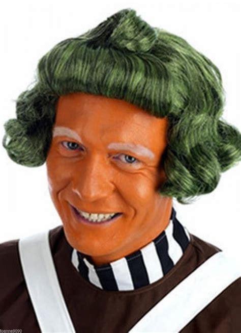 Adult Short Green Umpa Lumpa Factory Worker Oompa Loompa Fancy Dress Costume Wig   eBay