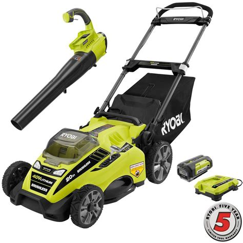 ryobi fan and battery ryobi 20 in 40 volt lithium ion cordless lawn mower with
