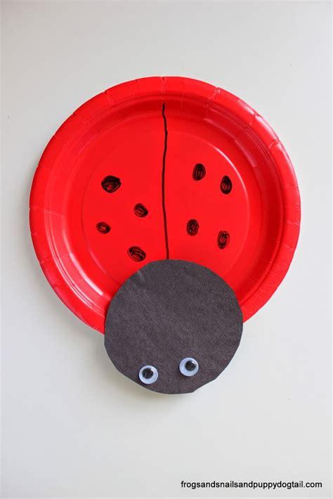 Paper Ladybug Craft - ladybug paper plate craft fspdt