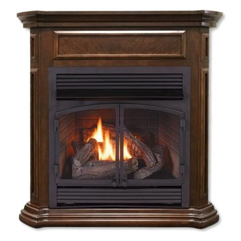 ventless fireplace system dual fuel technology nutmeg