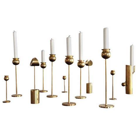 pierre forsell brass candlesticks for skultuna sweden