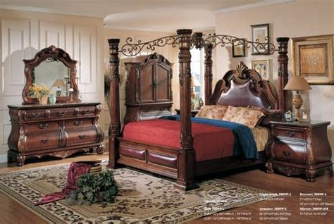 luuxry canopy king bedroom setwood hand carving antiqueid product details view