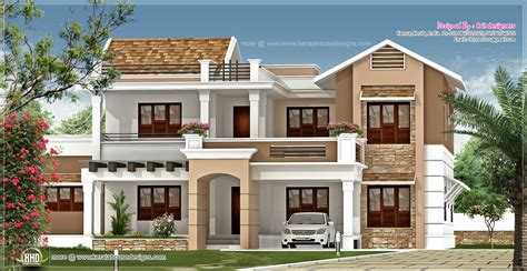 new villa exterior design in 3740 sq kerala home