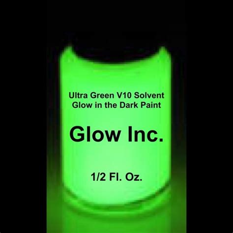 glow in the paint glow inc ultra green v10 solvent based glow in the paint