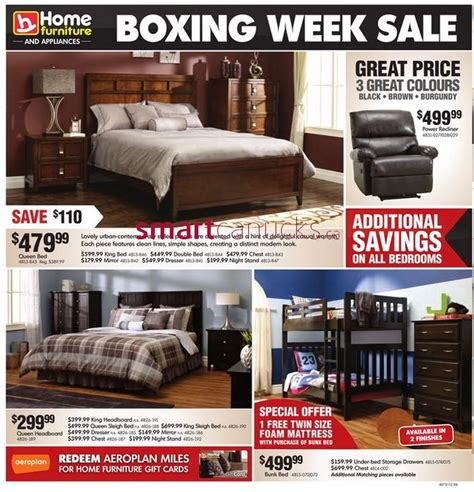 home furniture and appliances boxing week sale 2012