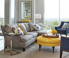 Gray And Yellow Living Room by Mixing Patterns How To Decorate Like A Pro
