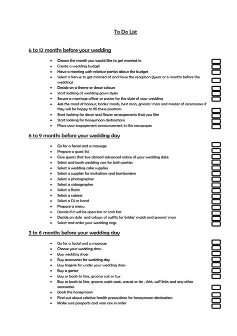 Wedding Checklist To Do List by 10 Best Images Of Wedding To Do List Pdf List Wedding