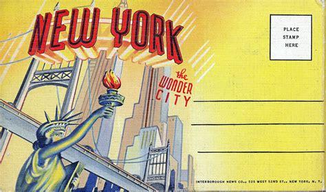 new york graphic design jobs new york quot the wonder city quot graphic design cover vintage