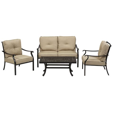 Grand Resort Villa Park 4pc Seating Set Outdoor Living Casual Living Patio Furniture
