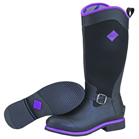 purple muck boots muck boot black purple boot