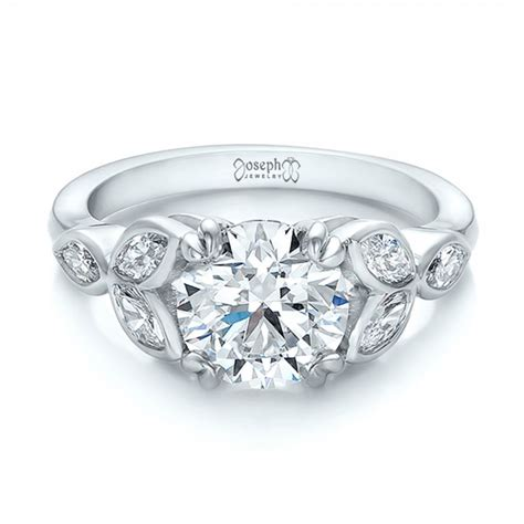 custom marquise engagement ring 100647