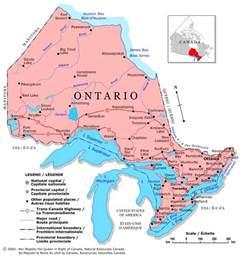 Canada Area Code Map by Ontario Canada