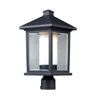 black outdoor lighting z lite 523phb outdoor post light mesa collection black finish