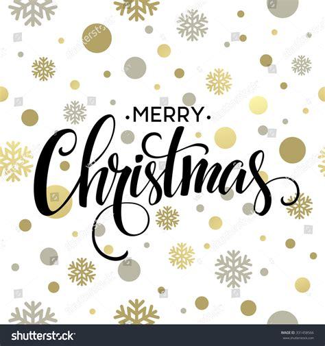 Retro Paper Christmas Decorations - merry christmas gold glittering lettering design stock vector 331458566 shutterstock