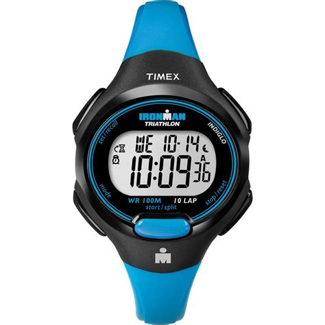 timex t5k526 s ironman triathlon 10 blue