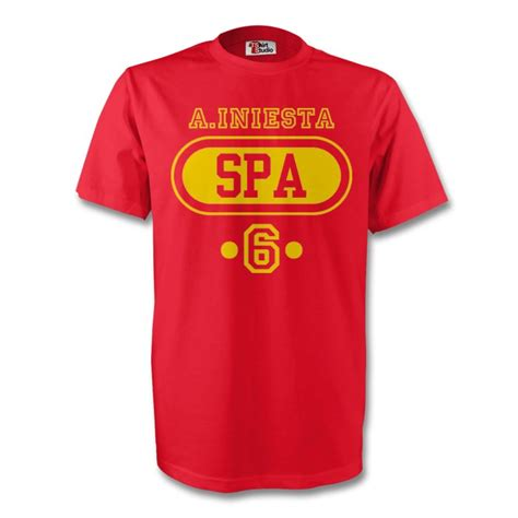 Inesta T Shirt andres iniesta spain spa t shirt