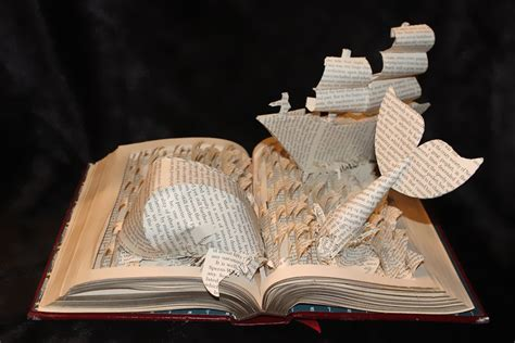 How To Make Paper Sculptures - stories from books come to in paper sculptures by