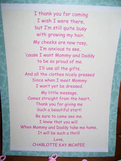 Thank You For Baby Shower Gift Poem by Boys Baby Shower Poems And Quotes Quotesgram