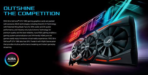 Asus Rog Gtx1080 Strix 8gb Ddr5x 256 Bit asus geforce gtx 1080 rog strix gtx1080 8g gaming 8gb gddr5x 256bit pci e 3 0 desktop graphics