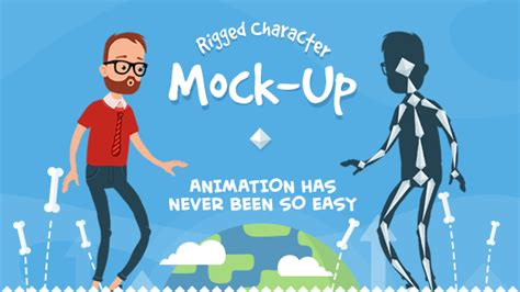Rigmo Rigged Character Animation Mockup By Creartdesign Videohive After Effects Character Rig Template