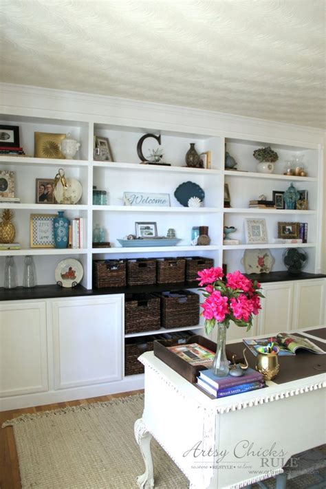 ready made bookshelves remodelaholic build wall built desk bookcase cabinet