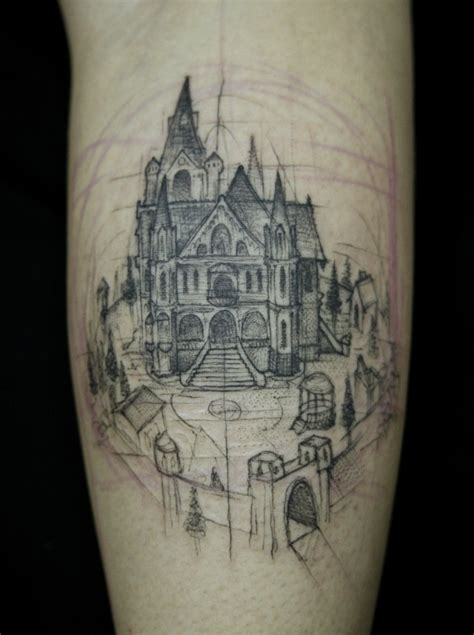 architecture tattoo 17 well crafted castles tattoos