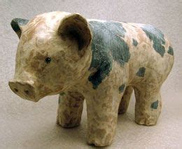 How To Make A Paper Mache Piggy Bank - how to make a paper mache piggy bank uses paper glue