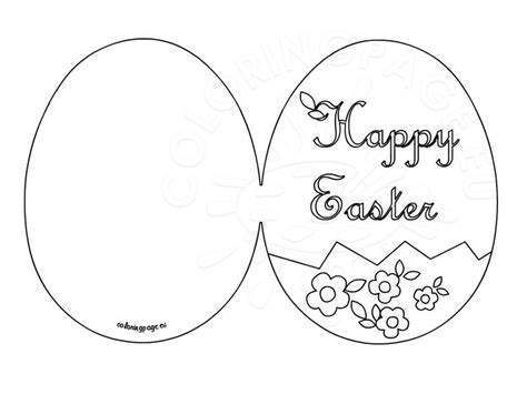 easter card template ks2 happy easter card printable coloring page