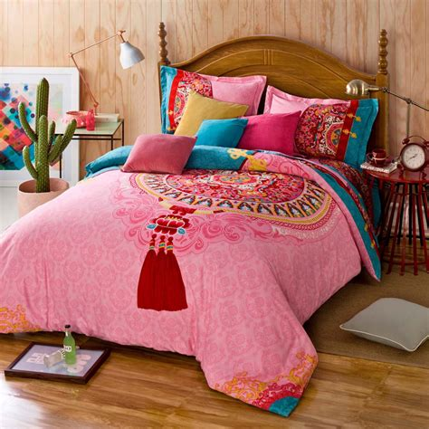 girls queen size bedding twin full queen size 100 cotton bohemian boho style beautiful percale sheets girls comforter