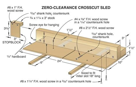 table saw crosscut sled plans crosscut sled