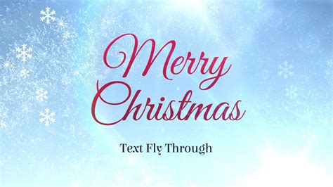 Merry Christmas Text Flythrough ? Free After Effects