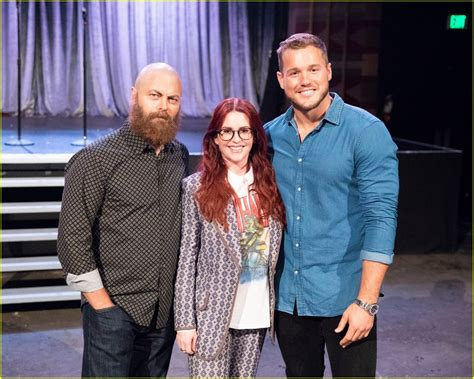 nick offerman the bachelor megan mullally nick offerman help colton underwood find