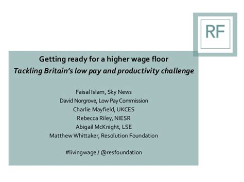 getting ready for a higher wage floor