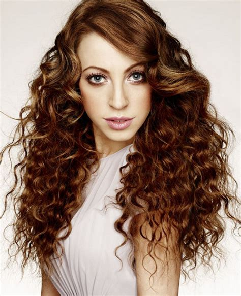 2014 long permed hair pictures cute types of perm for long hair modern curly