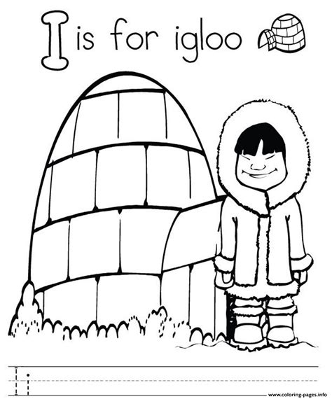 i coloring letter i for igloo alphabet color pages8916 coloring pages