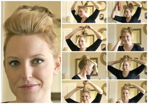 fabulous quick and easy short hairstyles 12 fabulous short hair updo tutorials diy thought
