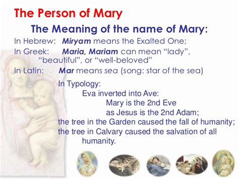 the meaning of the name mariology